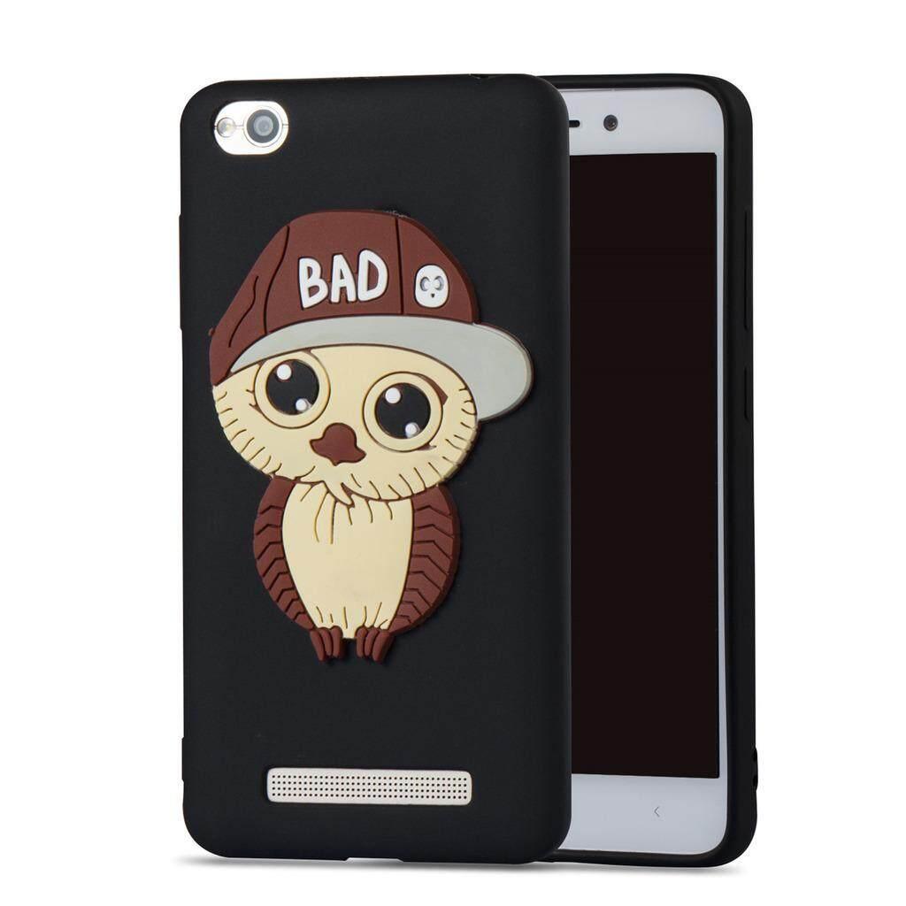 Bumper Pelindung Pria Pola Burung Hantu Casing Silikon TPU Casing Ponsel untuk Xiaomi Redmi 4A (