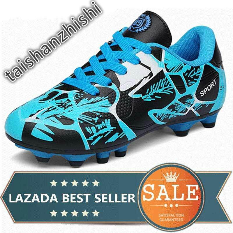 b1ca24145 Breathable PU Men And Kids Soccer Shoes Long Spikes Anti-slip Training Football  Shoes Boy