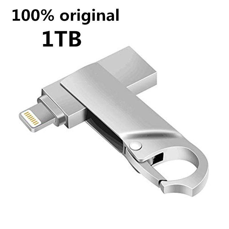 Usb Flash Drive 1tb Memory Stick External Storage Photo Stick 2in1 Otg Drive Flash For Iphone Ipad Ios Mac And Computers (silver-1tb) By Zhiyuan Cohesion Store.