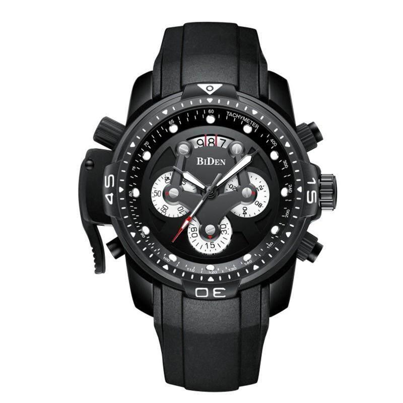 Nanxiangzi Biden 0138 Merek Terbaik Pria Merek Mewah Jam KUARSA Pria Silikon Tali Kronograf Olahraga Jam Tangan Militer