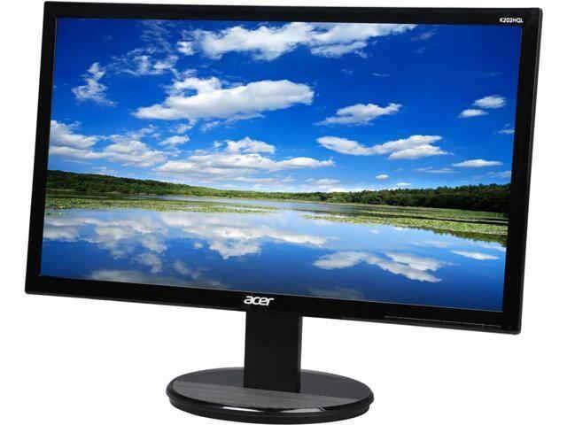 Acer K202HQL 19.5 inch 768p TN Panel Screen Monitor HD 1366 x 768 5ms 60Hz VGA HDMI VESA 100 x 100