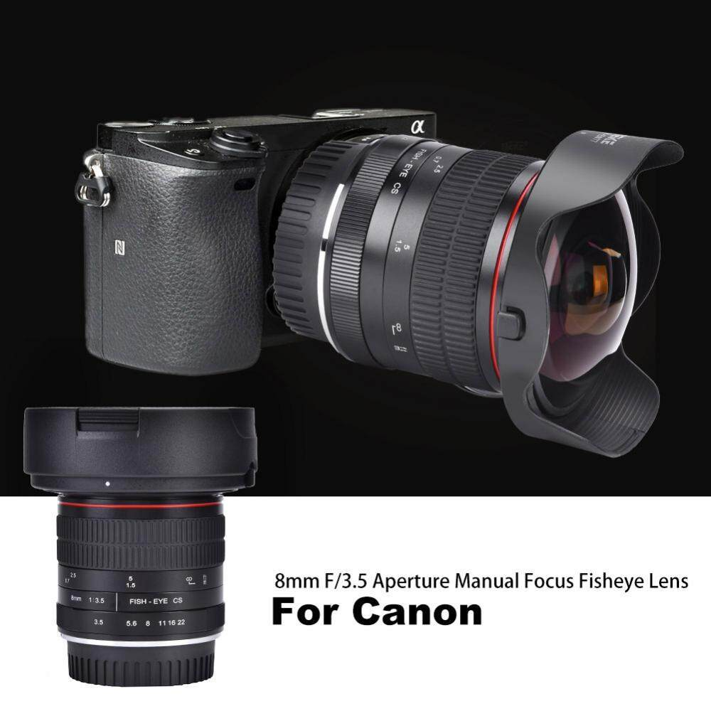 Meike MK-8mm F/3.5 Manual Fokus Mata Ikan Sudut Lebar Lensa untuk Kamera DSLR (untuk Canon)-Intl