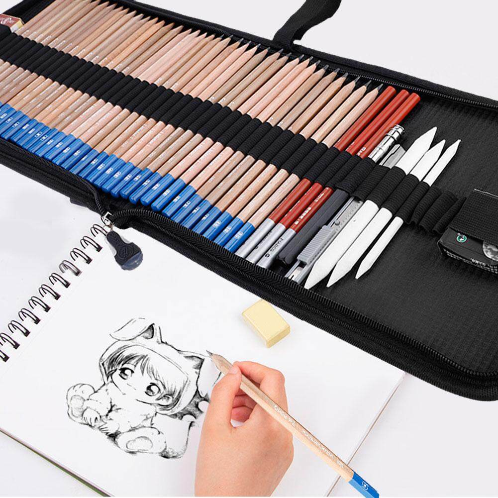 Scholine Sketch Pencils Eraser Charcoal Pencil Drawing Art Supply Set