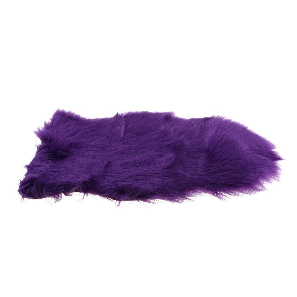 BolehDeals 40x60cm Sheepskin Fluffy Skin Faux Fur Fake Rug Mat Rugs For Living Room Bedroom Sofa
