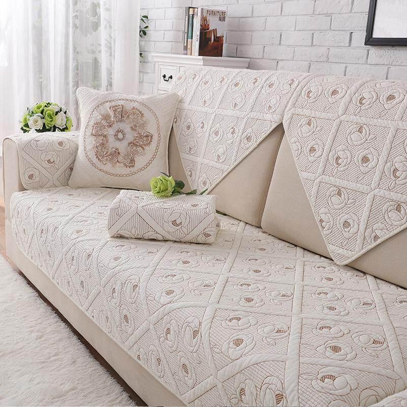 Cotton Sofa Pad Four Seasons Universal Fabric Double-Sided Pure Cotton Sofa throw pillow Garden Minimalist Modern Sofa Cover Case Cover