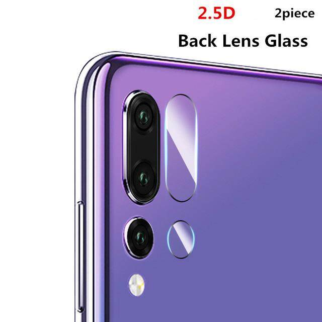For Huawei P20 Pro 2pcs 2.5D Camera Lens Tempered Glass Back Protective Sceen Protector Film - intl
