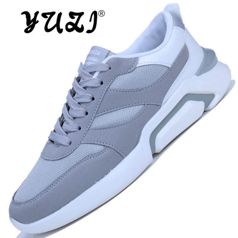 2018 Yuzi Top Merek Kasual Pria Ukuran Besar 44 Hitam Benar Dewasa Sepatu Tenis Comfortble Ultra Air Mesh Baru kedatangan Sepatu Berjalan