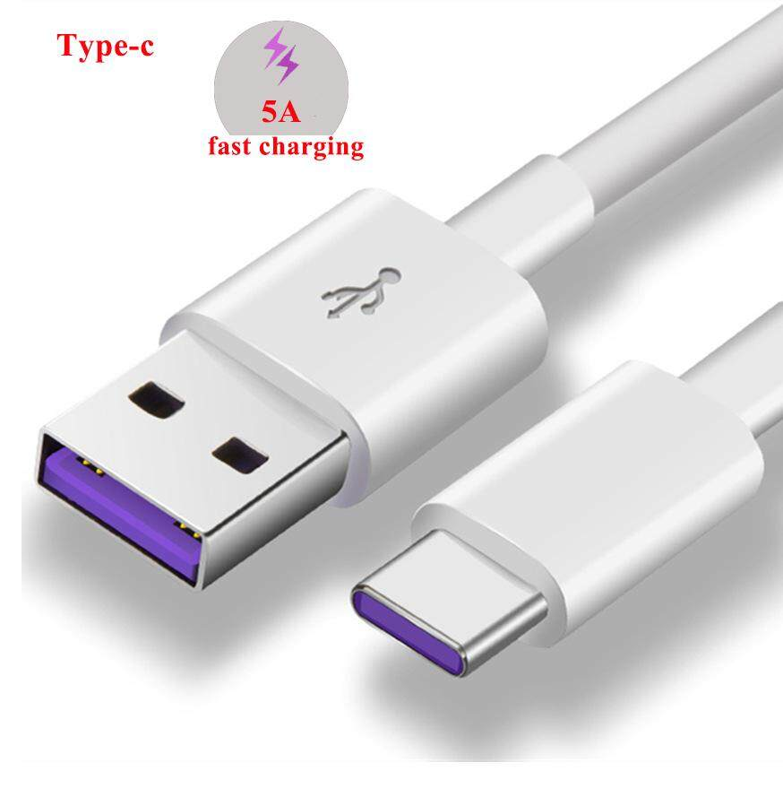 Kabel Tipe C USB C 3.1 Cepat 5A Pengisian Daya Kabel Data Android untuk Samsung S9 S8 PLUS Cepat Pengisian Huawei p20 Lite Pro 2 M Panjang