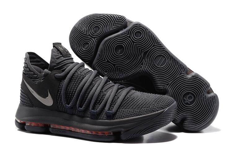 Nike Resmi Kevin Durant 10 Abu-abu Perak Diskon Pria Basketaball Sepatu Kd e7e70a4cab