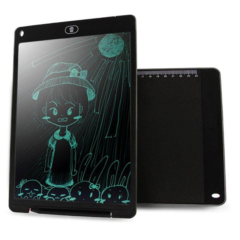 CHUYI Portable 12 inch LCD Writing Tablet Drawing Graffiti Electronic Handwriting Pad Message Graphics Board Draft Paper with Writing Pen, CE / FCC / RoHS Certificated(Black) - intl