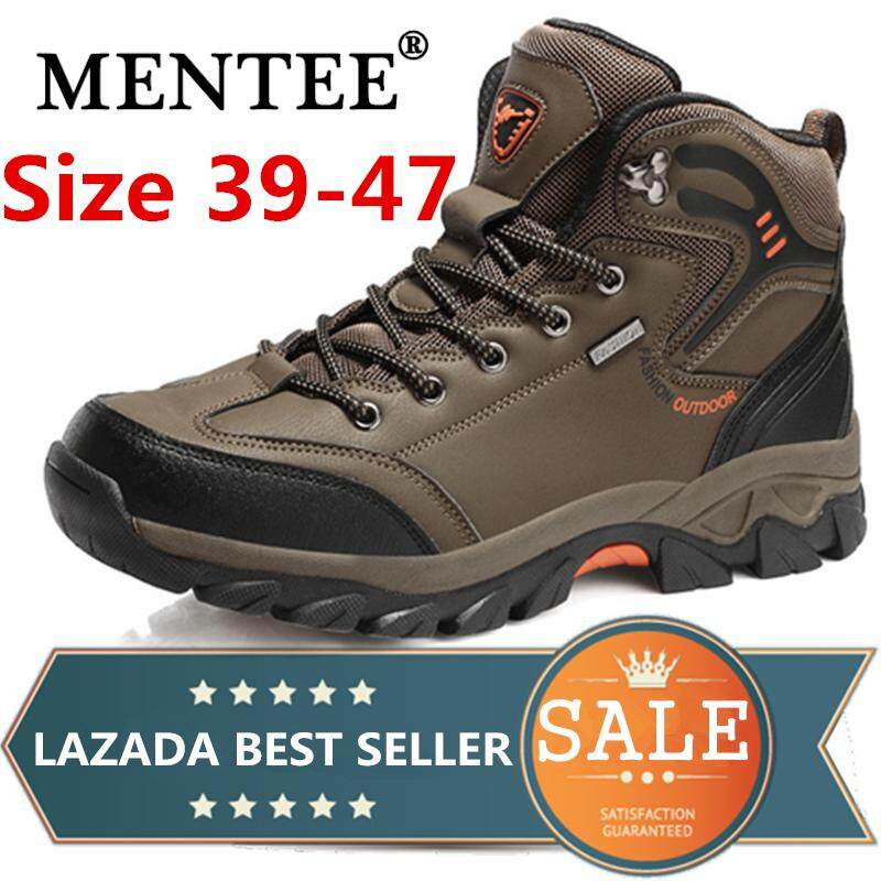 07e8a3cfd2d MENTEE Men Hiking Shoes Waterproof non-slip Trekking Shoes Plus Size 39-47