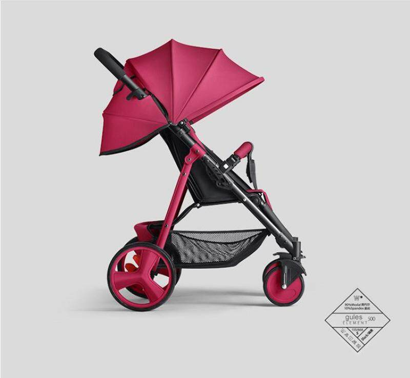 Sally umbrella car baby stroller in the winter and summer of hand can sit and lie folding stroller Singapore