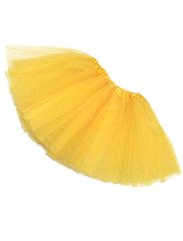 Women/adult Organza Dance Wear Tutu Ballet Pettiskirt Princess Party Skirt Yellow By Shakeshake.