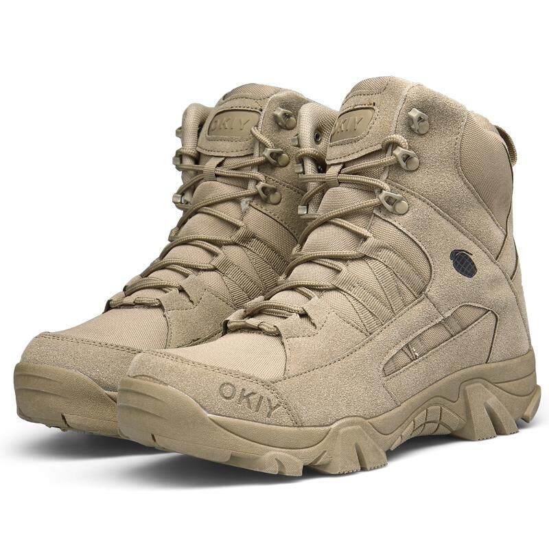 Mentee Pria Boots Taktis Berkemah Gurun Bot Militer Tentara Sepatu Sepatu  Boot Tempur . 374184dd80