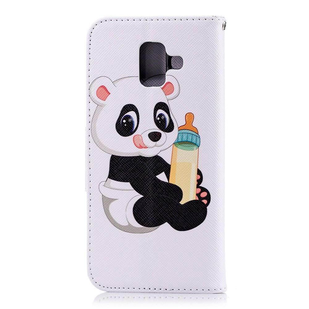 ... Case untuk Samsung Galaxy A6 2018 Desain Kreatif Dicat Berdiri Flip PU Dompet Kulit Case Cover ...