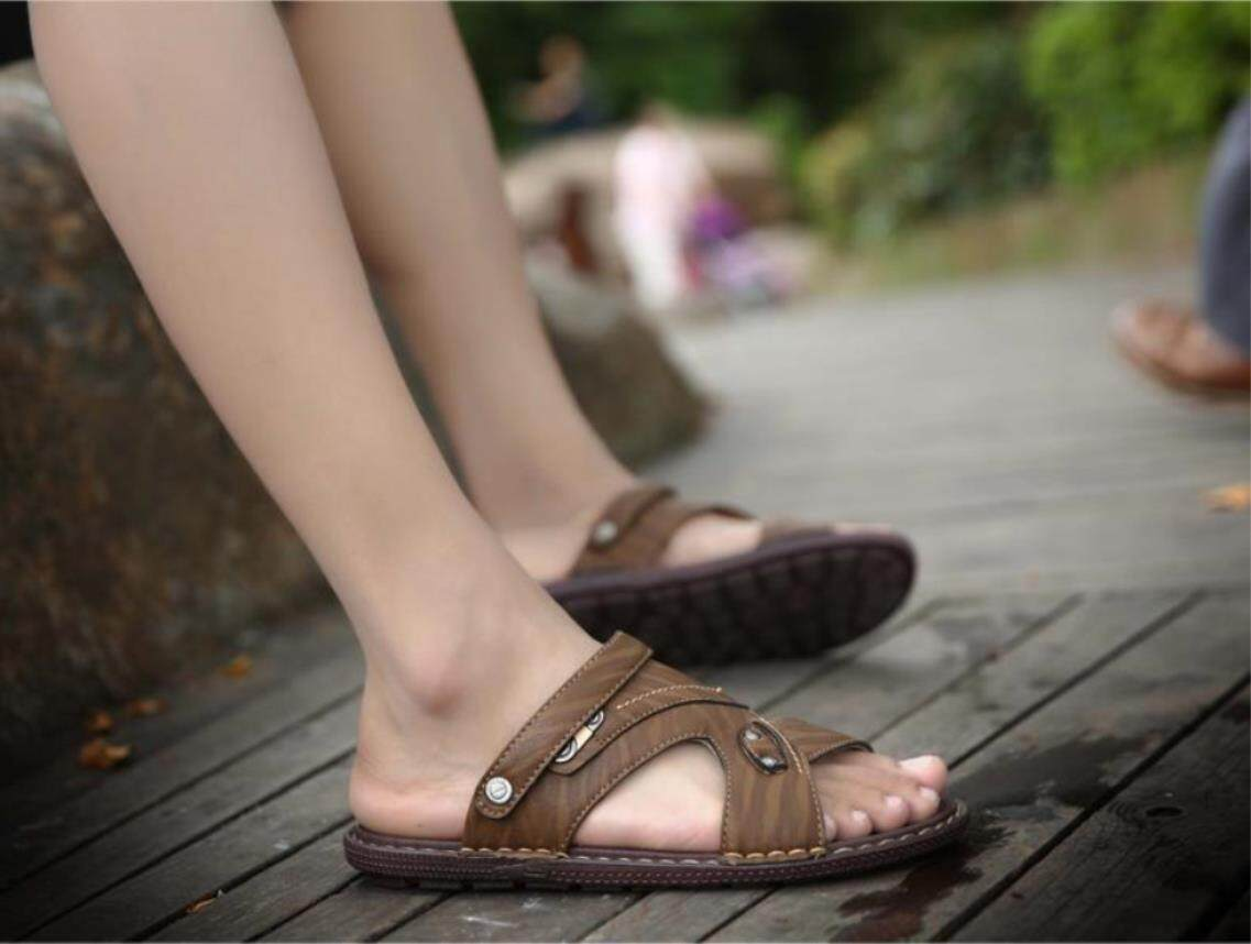 1ce57429cf7a Mens Sandals 2018 Summer Outdoor Beach Slide Sandals Luxury Brand Fashion  Breathable Casual Male Footwear For