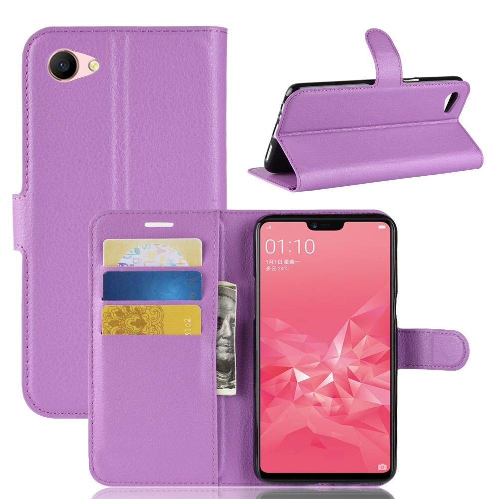 Features Luxury Leather Wallet Flip Stand Cover For Oppo A3 Card