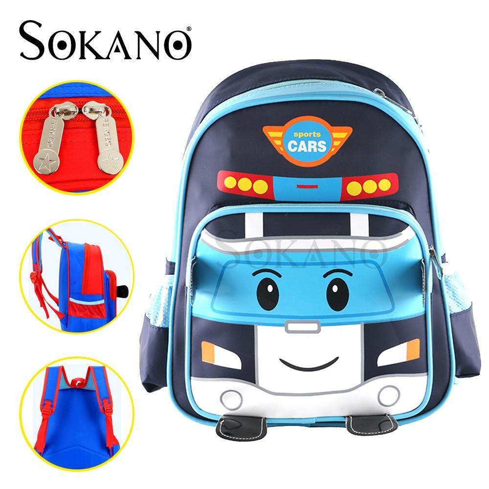 (RAYA 2019) SOKANO Kid Robocar Poli Design School Bag High Quality Backpack Kindergarten Bag