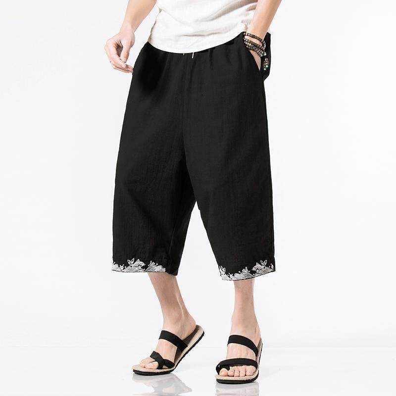 1ac5ec3c6a Man Casual Jogger Pants 2018 Summer Fashion Linen Chinese-style Pants  Cotton Linen Loose Leg