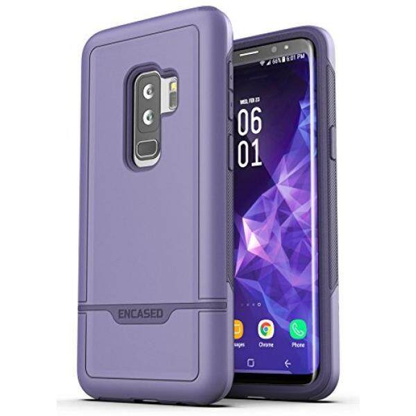 Galaxy S9 Plus Tough Case, Encased [Rebel Series] Rugged Case for Samsung Galaxy S9+ (2018 Release) Military Spec Armor Protection (Deep Purple) - intl