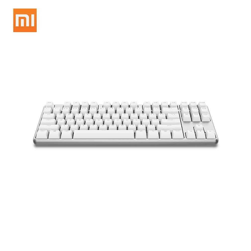 Xiaomi Yuemi Keyboard Mekanik Pro 87 Keys LED TTC Sakelar Merah Lampu Latar Permainan Lampu Belakang Keyboard Alumunium Alloy untuk Gamer Laptop