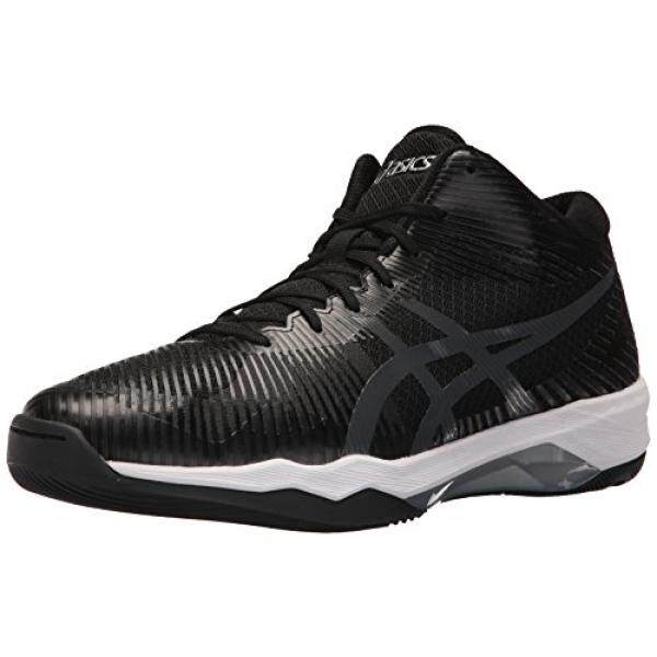 ASICS Mens Volley Elite FF MT Volleyball Shoe, Black/Dark Grey/White, 6.5 Medium US / From USA