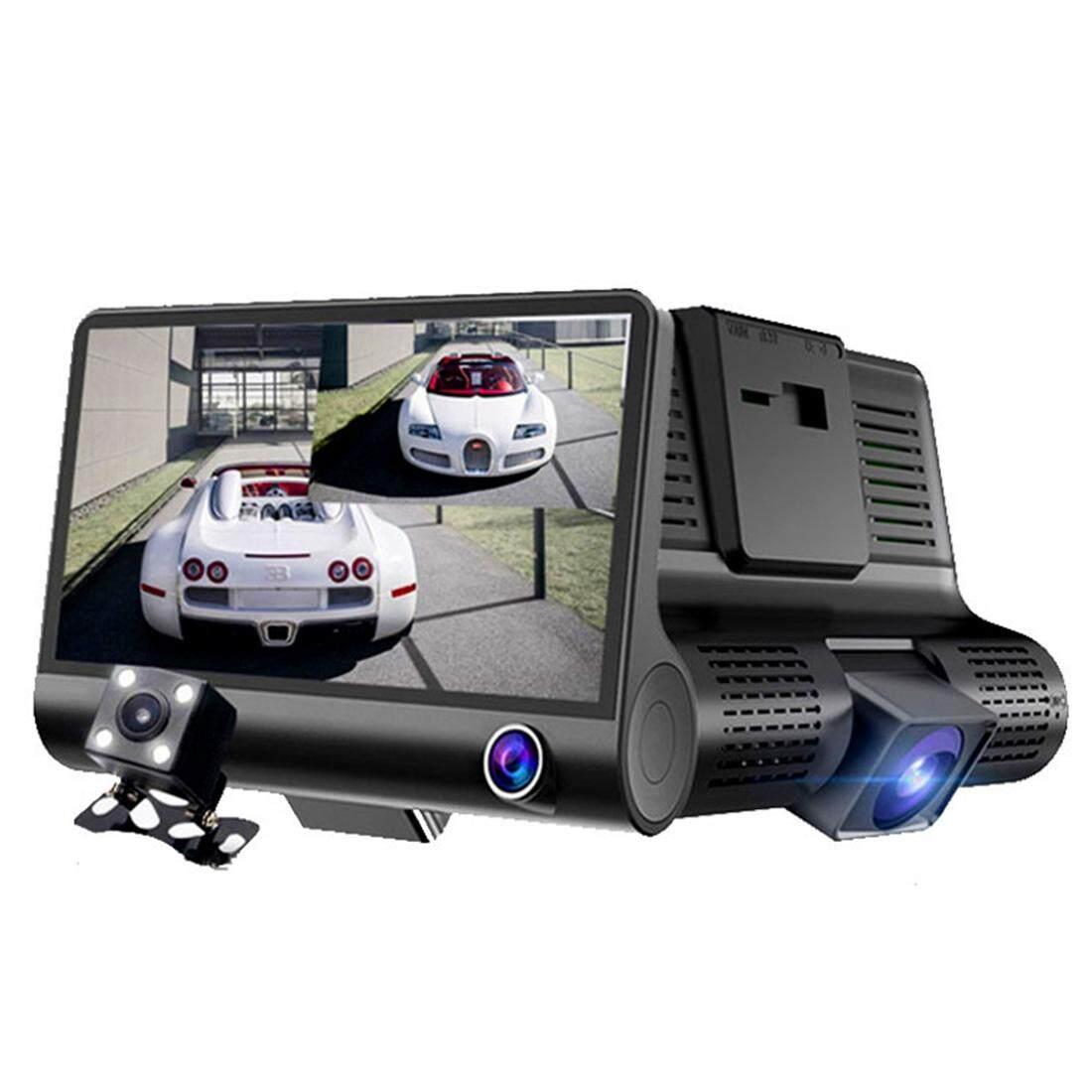 4.0 Inch IPS Layar 5.0 Mega Piksel 170 Derajat Sudut Lebar Full HD 1080 P 3 Eksklusif TV Video Mobil DVR, dukungan Modus Malam Lampu/Visual Membalikkan/TF Card (32 GB Max)/G-Sensor/Deteksi Gerakan