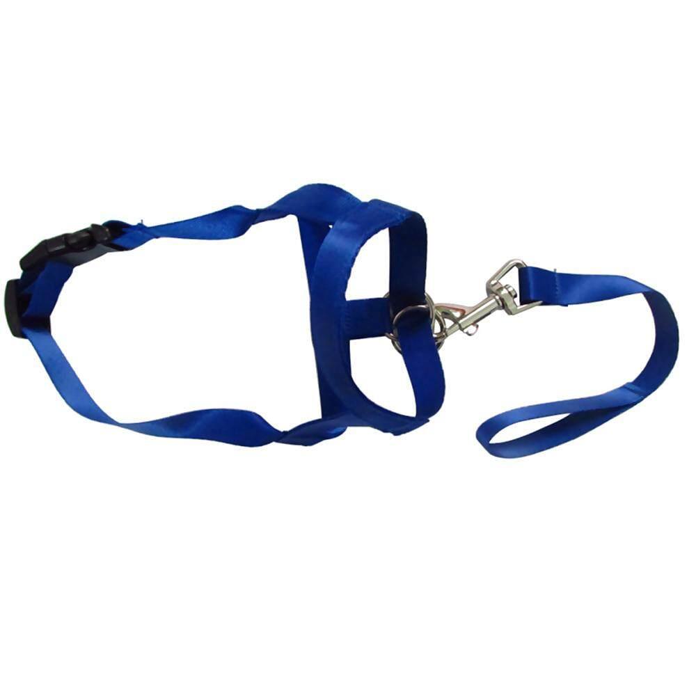 Whyus-Size L Adjustable Pet Dog Nylon Preventing Barks Mouth Muzzles Anti Biting Mask -