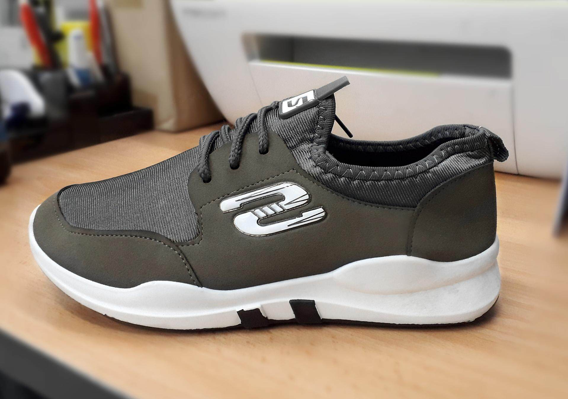 Women's Fashion Breathable and Comfortable Sport Shoes Colour Grey