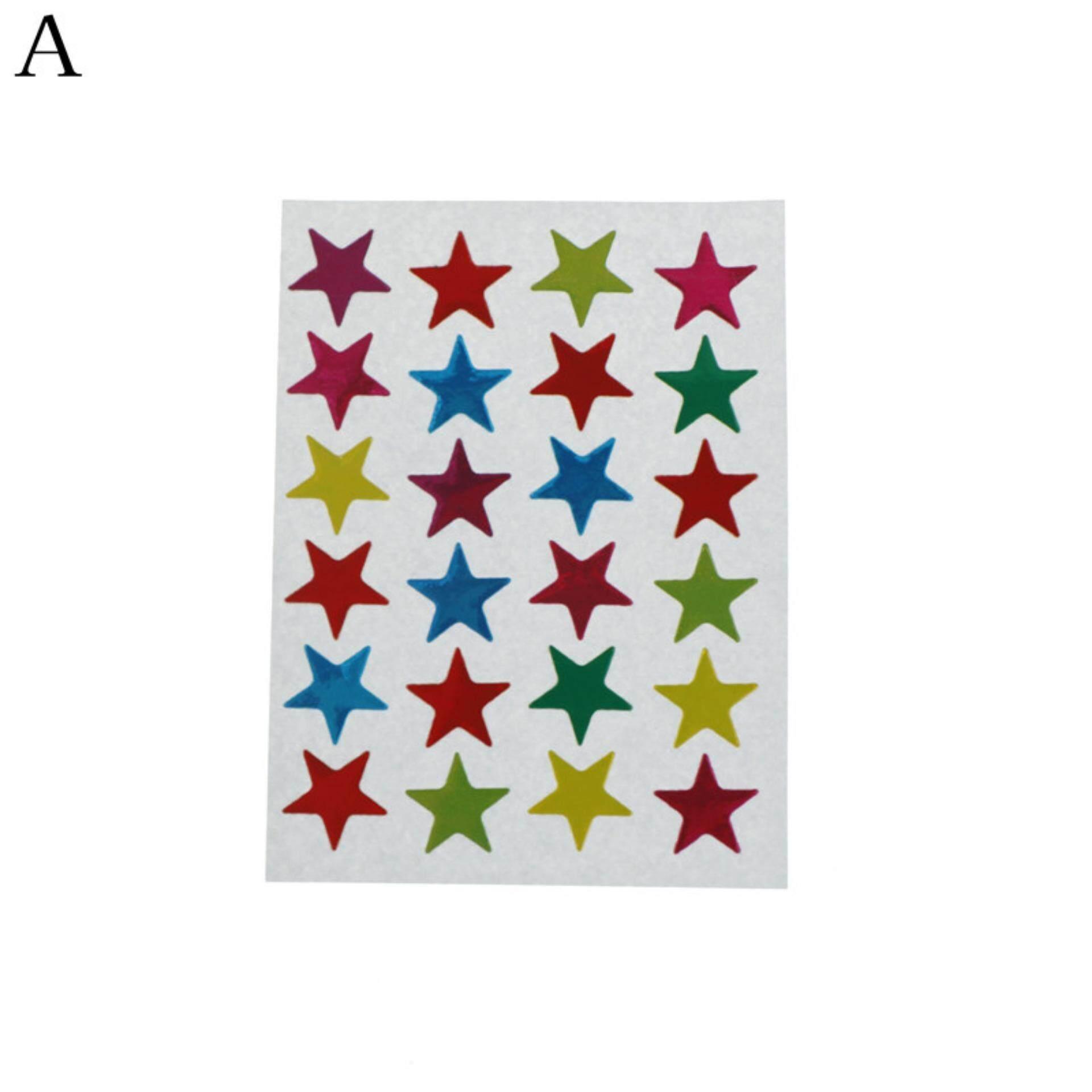 Mua Mini Các loại màu Ba Chiều Nhãn Dán Ngôi Sao Trẻ Em Dự Án Con Dấu Phong Bì