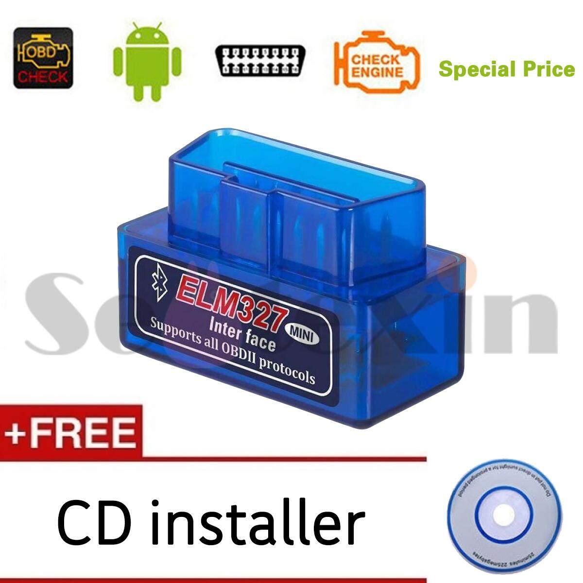 OBD2 Mini ELM327 Bluetooth V2.1 Wireless Car Diagnostic Scanner Universal OBD II Auto Scan