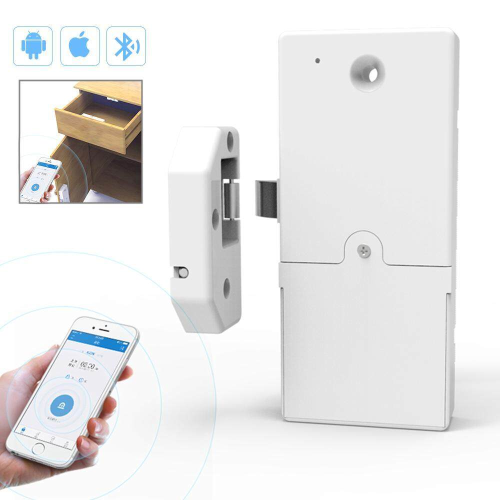 Goodgreat Bluetooth Kunci Pintar untuk Entri Tanpa Kunci & Pemantauan Langsung, lubang-Gratis Cerdas Kunci Laci Kunci Kabinet Sepatu Lemari Kabinet Arsip Kunci Tak Terlihat Ponsel Bluetooth Remote-Intl