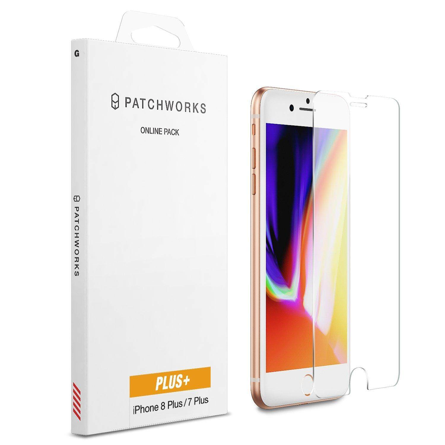 iPhone 8 Plus 7 Plus 6s Plus 6 Plus Screen Protector, Patchworks ITG Plus Made in Japan 9H 0.33mm Beveled Edge Scratch Resistant Oleophobic Coated Tempered Glass for iPhone 8/7/6s/6 Plus - intl