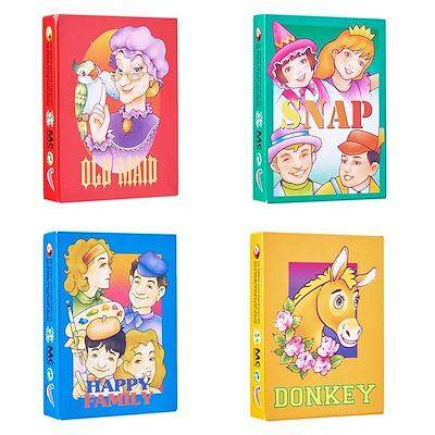 4 unit/set Traditional Card Games (Old Maid / Snap / Happy Family / Donkey)