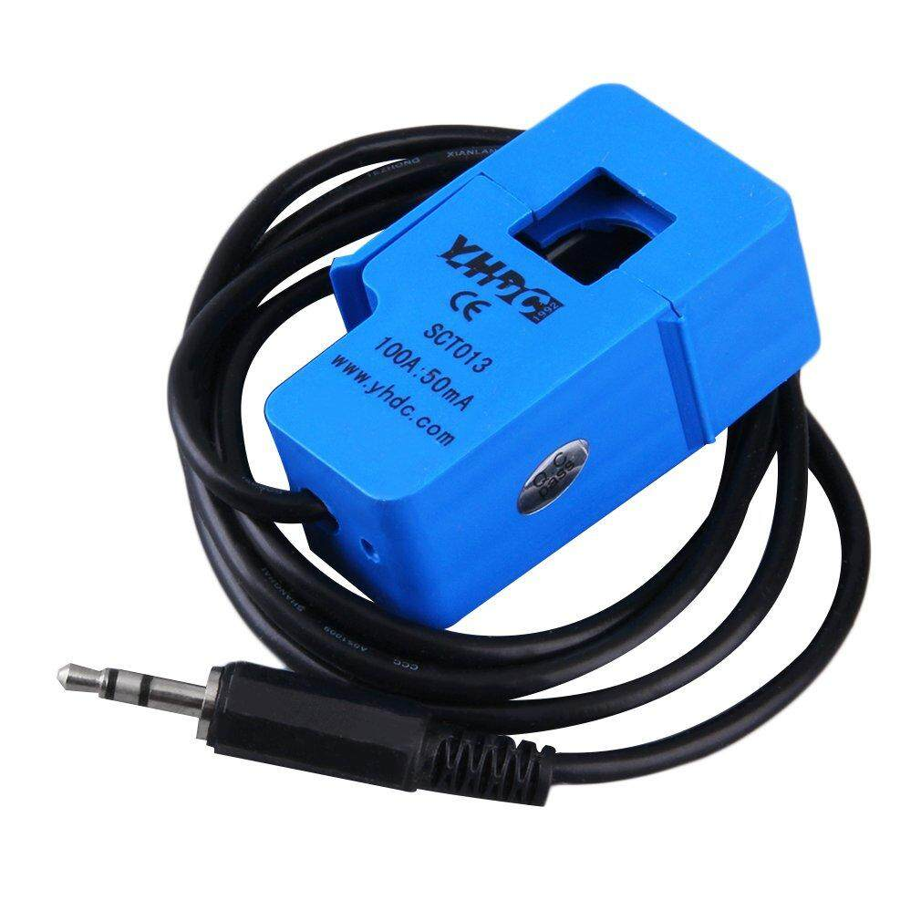 100A Non Invasif Arus AC Sensor Split Core Current Transformer Biru Biru-Intl