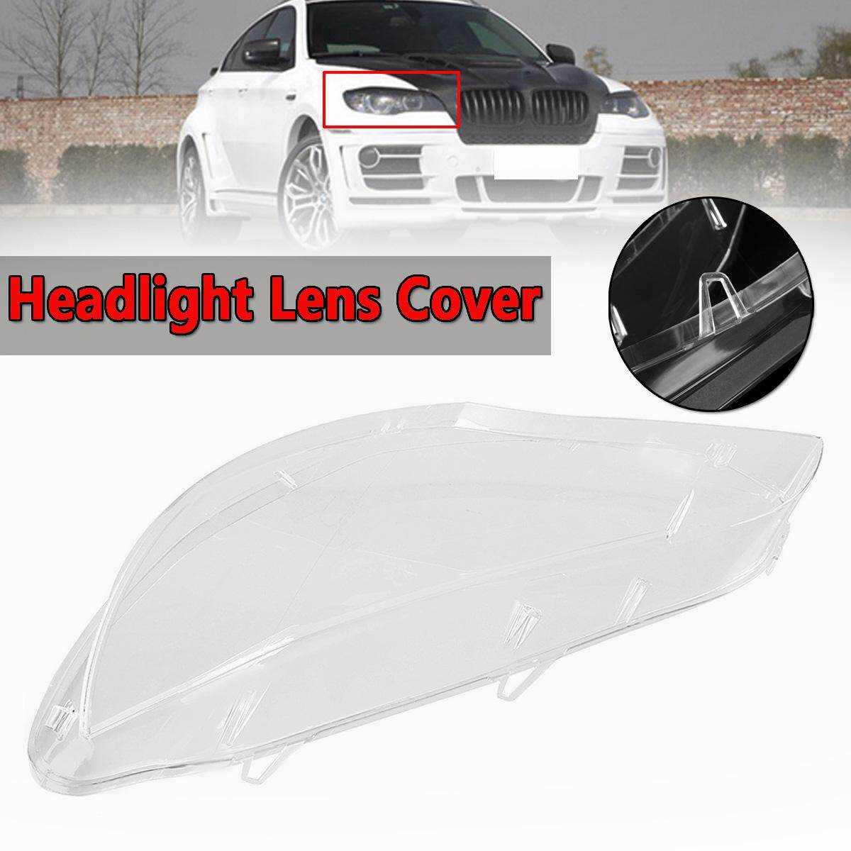 For 2008-2014 BMW E71 X6 Replacement Headlight Lamp Plastic Cover Lens(Pair) New Right