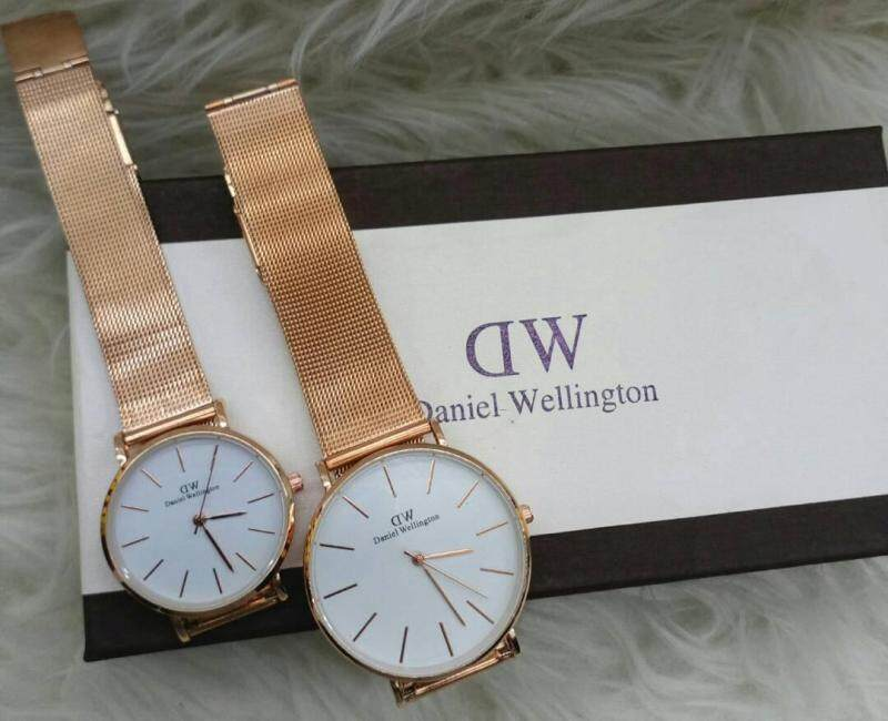 NEW CASUAL DW COUPLE WATCH SET GOLD COLOUR Malaysia