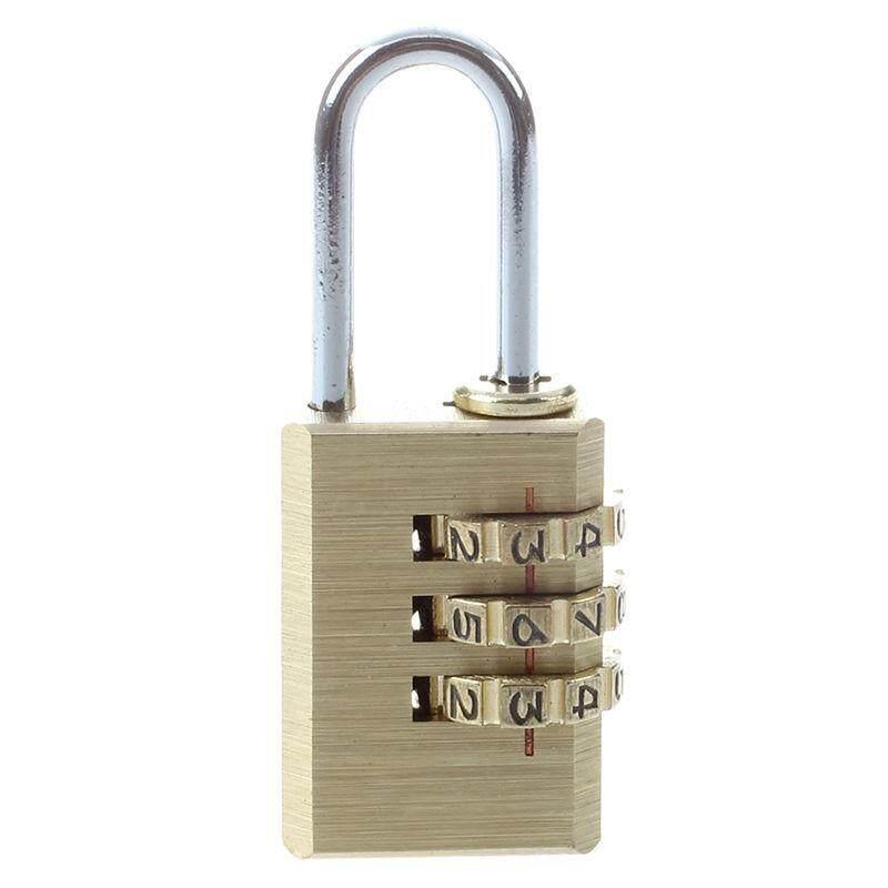 3-D Kuningan Gembok Kombinasi Yang Dapat Direset Tas Ransel Kode Kunci-Intl By Fastour.