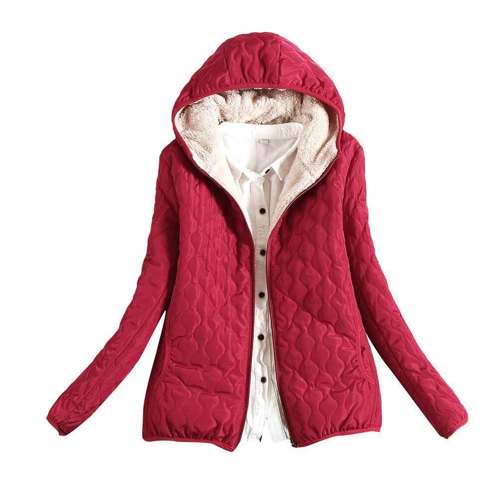 Guo Womens Warm Coat Hooded Jacket Slim Winter Parka Outwear Coats By Hongshouguostore.