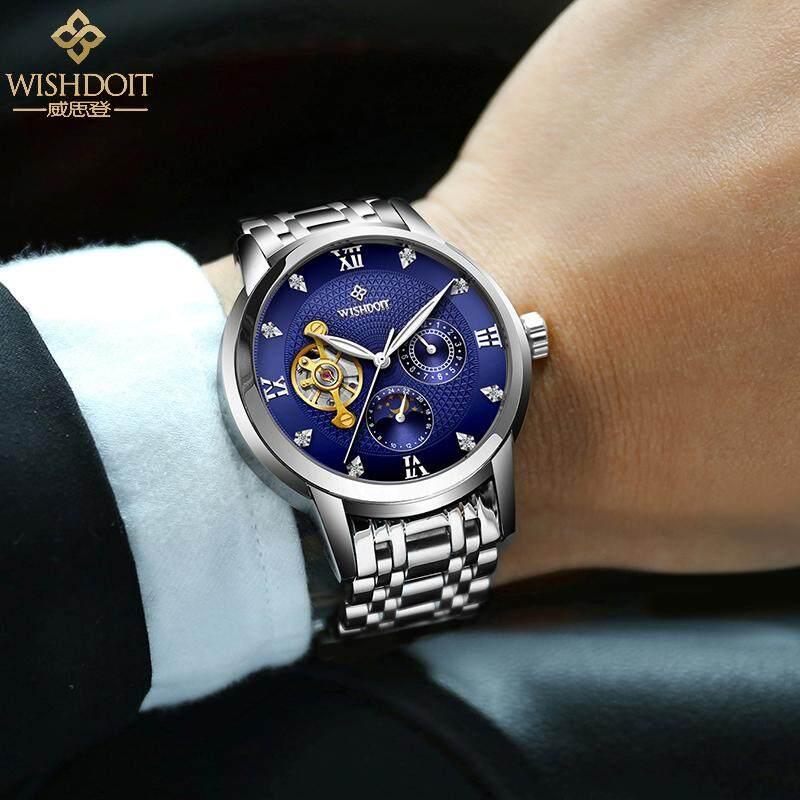 ... WISHDOIT Jam Tangan Pria Jam tangan mekanik Sepenuhnya Otomatis bisnis  Tahan Air Tren berongga Jam Tangan 8af7da4eab