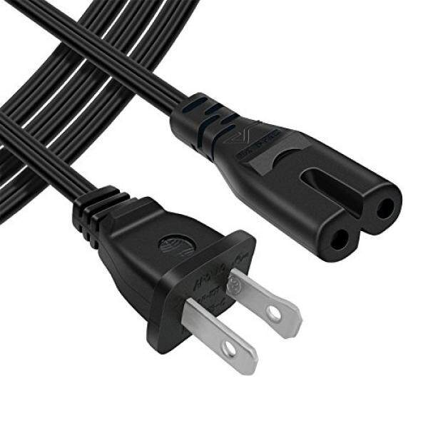 Power Cables Powseed [UL Listed] 6Ft 2 Prong AC Wall Power Cable 2 Slot Cord for HP Dell Samsung Sony Asus Acer Toshiba Laptop Charger, LED LCD Monitor TV Epson Lexmark Printer Ps2 Ps3 Slim, Ps4, DVD players - intl