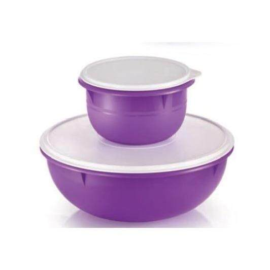 Tupperware Fix N Mix Set (1) 1.9L and (1) 6.3L - Dark Purple