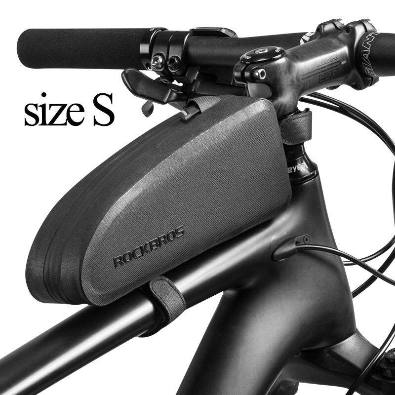 New ROCKBROS Waterproof Bicycle Bags Black Nylon Cycling Top Front Tube Frame Bag Large Capacity MTB