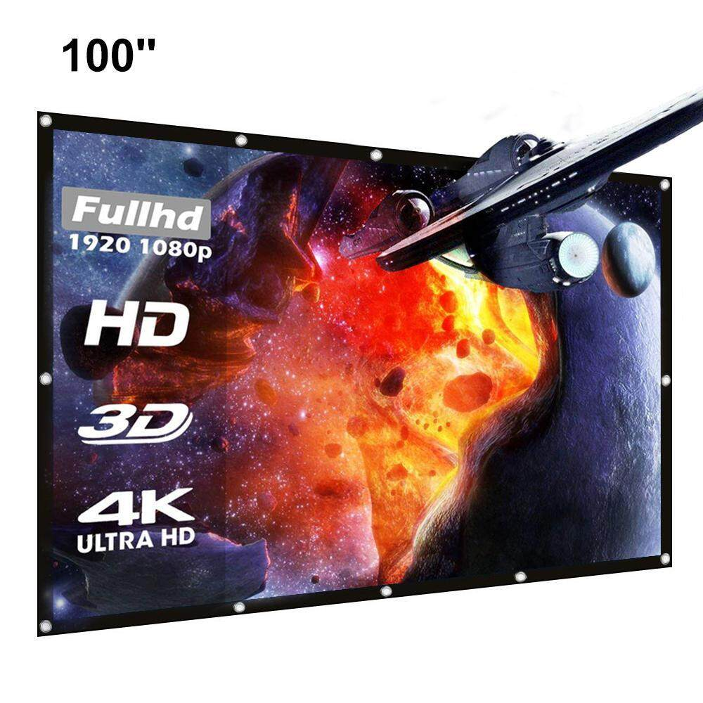 leegoal 100 Inch Projector Screen 16:9 HD For Indoor And Outdoor Home Theater,
