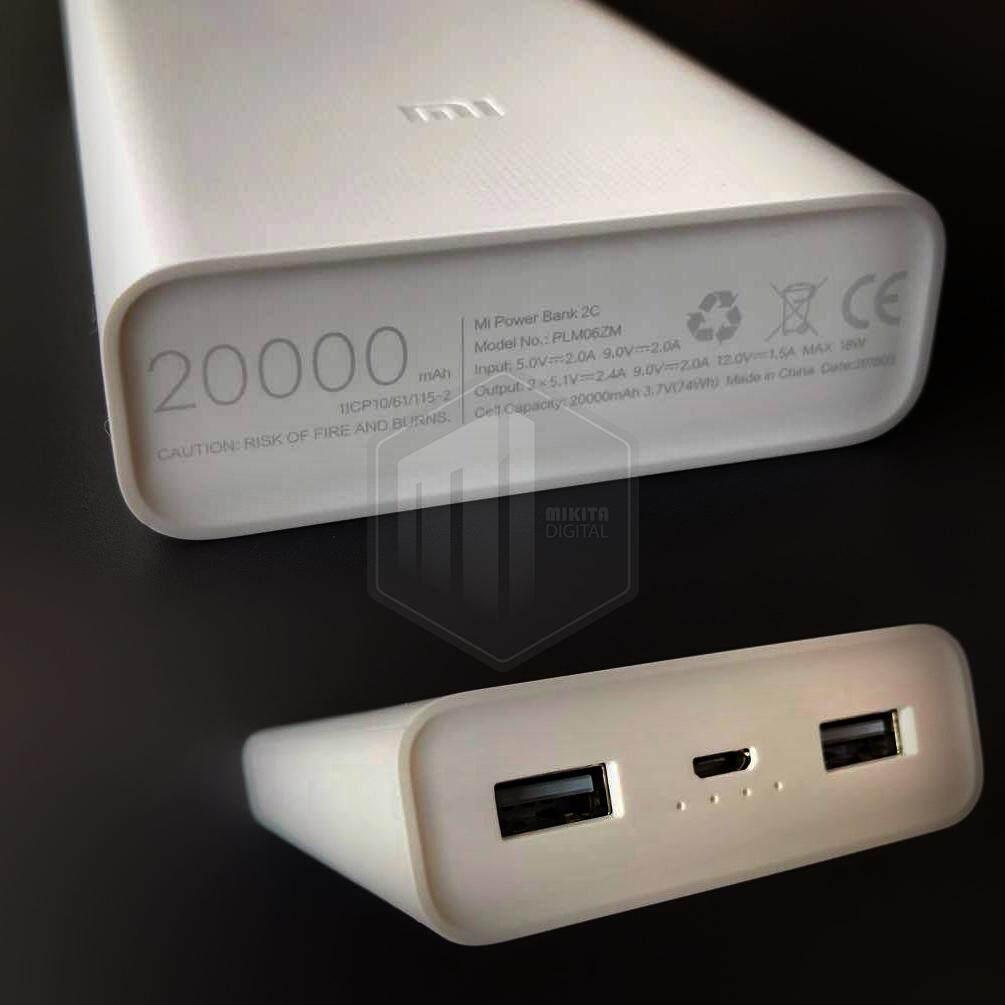Features Xiaomi Powerbank 2c 20000 Mah Fast Charge Quick Charging Mi 20000mah Dual Ports Original Detail Gambar 2 Usb Port Xiao Qc30 Samsung Iphone Power Bank Terbaru