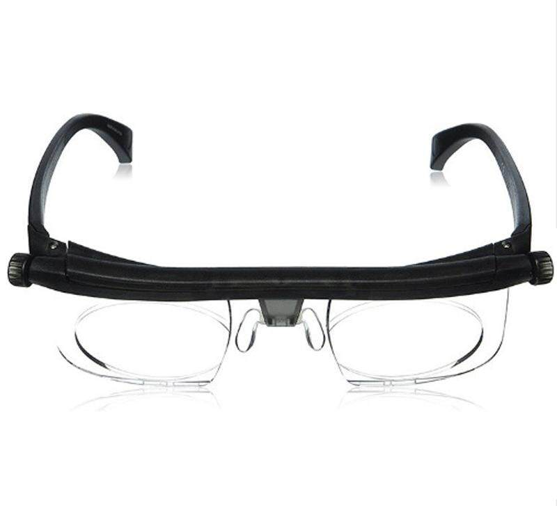 Fashion Adjustable Eyewear - 20/20 Vision - Non-Prescription Lenses for Near and Far Vision - Watching Computers + Reading + Driving - Unisex - Biosensing Technology