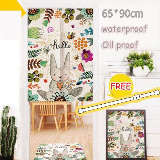 Japanese Style Home Decor Curtains Bedroom Living Room Curtain Japanese Style Curtain Door Hallway Restaurant Curtain Noren Entrance Curtain 33.5*35.4inches(Cat-3)