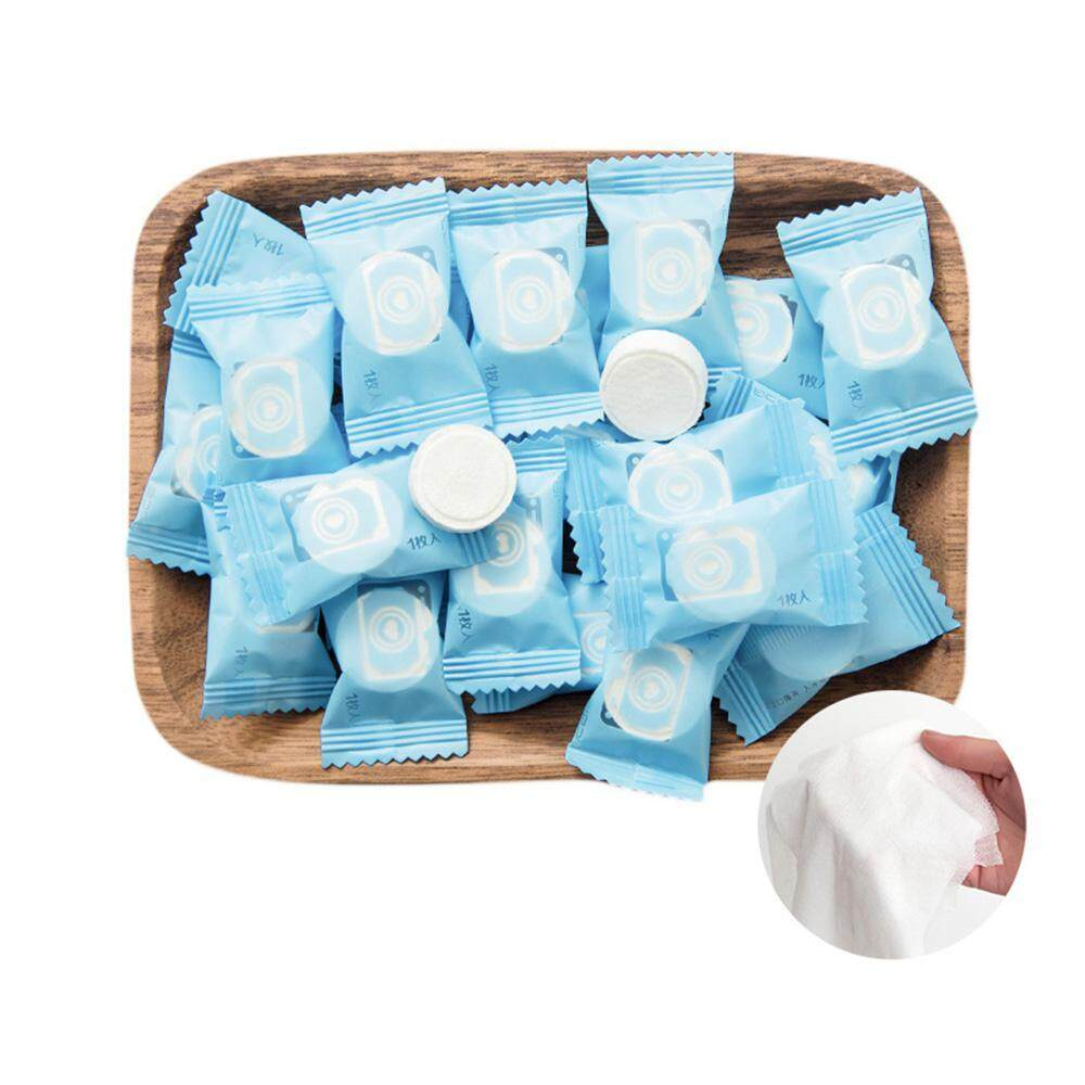 Aolvo 50 Pcs Compressed Travel Towel Disposable Compressed Cotton Washcloth - Intl By Aolvo.