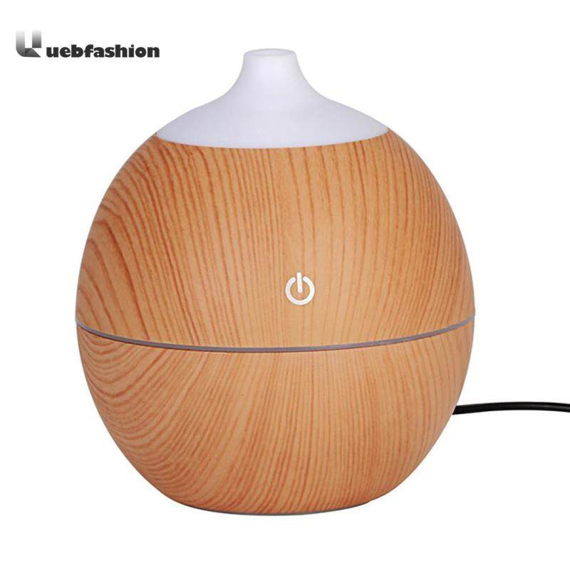 Bảng giá Round Shape Intelligent Induction 7 Color LED USB Wood Grain Ultrasonic Air Humidifier Aromatherapy Diffuser