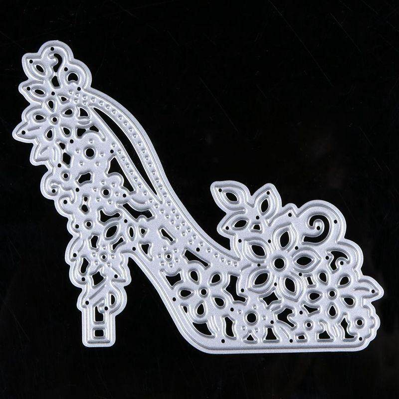 High Heels Cutting Die Stencils Embossing Diy Scrapbooking Decor Craft Die Cutting Template Folder Flower High-Heeled Shoe - Intl By Sunnny2015.
